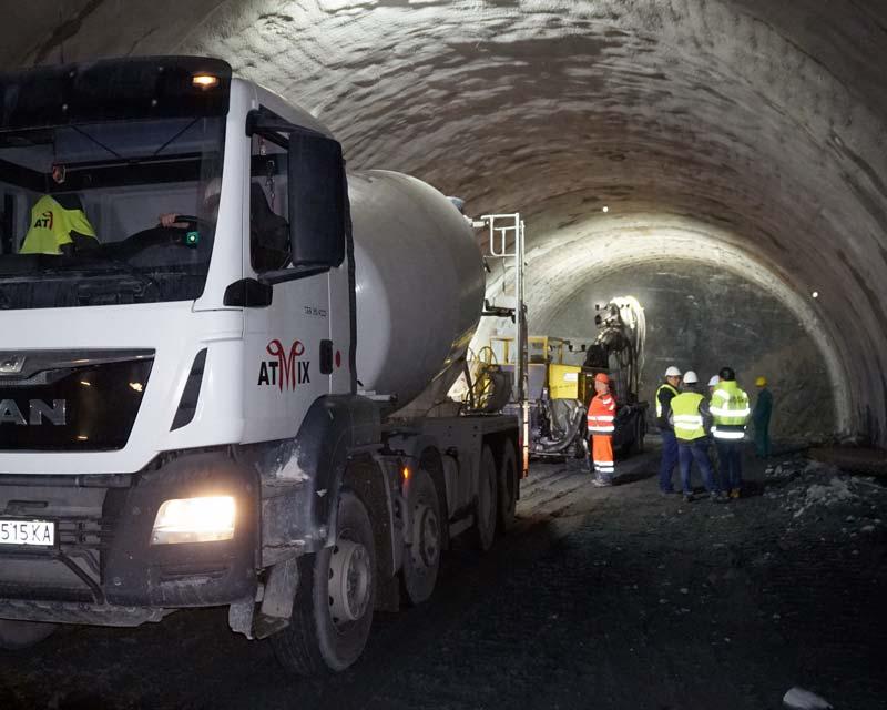 Бетон за тунелно строителство